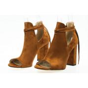 Sandały Zabudowane Wiązane Rude Lorna