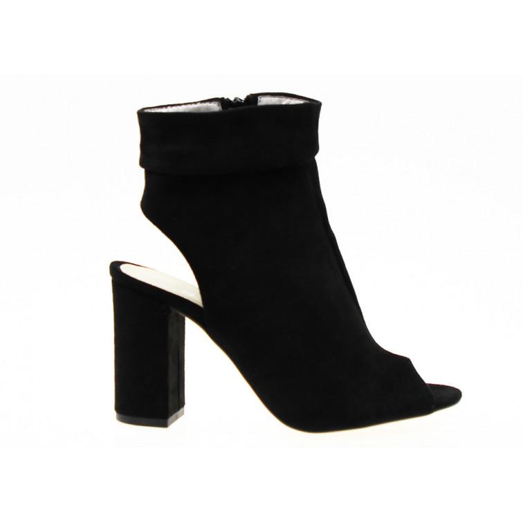 Sandały botki odkryta pięta beżowe Estetino (41) Brązowe
