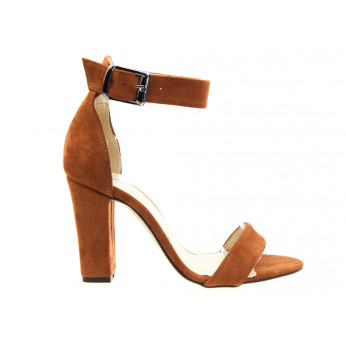 Brown Suede Sandals with Buckle Tina