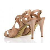 Sandały Na Szpilce z Klamerką Miedziane Copacabana