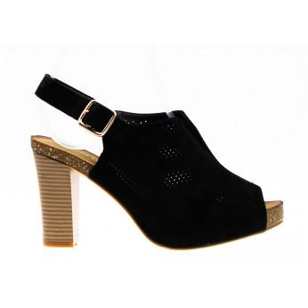 Sandały Zabudowane Ażurowe Czarne I'll Take It