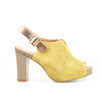 Sandals Openwork Yellow I'll Take It