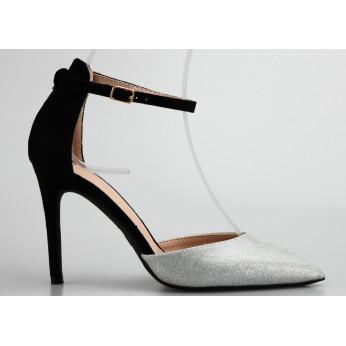 Sandały z Błyszczącym Noskiem Srebrne Double Trouble