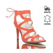 Pomarańczowe Sandały Havana Suede
