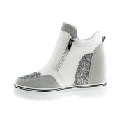 Sneakersy z Brokatem Białe Broadway