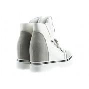 Sneakersy z Dwóch Materiałów Białe Madera
