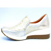 Sneakersy Wężowe Skórzane Złote Verona
