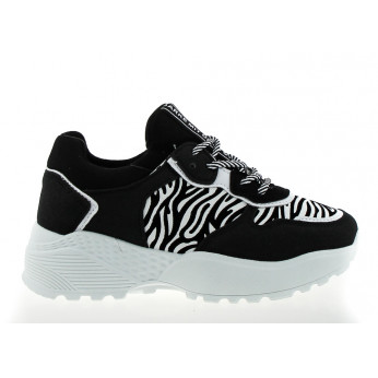 Trainers with Zebra Pattern Black Salvador