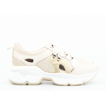 Sneakers Shiny Gold Beige Aladeen