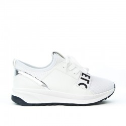 Sneakersy Białe Wiązane Love