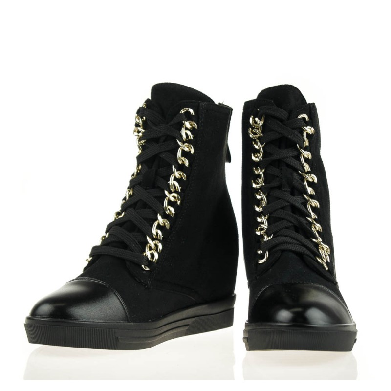 sneakersy z kłódką - botki damskie