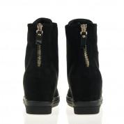 Sneakersy Czarne z Łańcuchem Glam