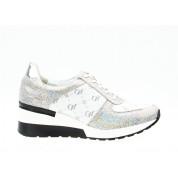 Sneakersy z Napisami Skórzane Białe Do It