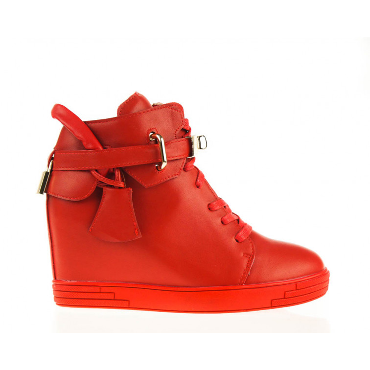 Sneakersy Czerwone z Kłódką Nobel