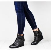Sneakersy Na Ukrytym Koturnie Srebrne Caroline