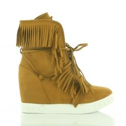 Sneakersy Z Frędzlami Camel Summer Breeze