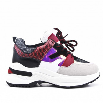 Sneakers with Multicolored Elements Red Milo