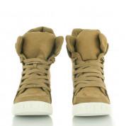 Zamszowe Sneakersy Khaki Dual
