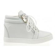 Sneakersy Skórzane Białe Clear JJ