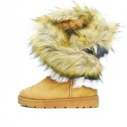 Śniegowce Emu z Kolorowym Kożuszkiem Kamelowe Tenebris