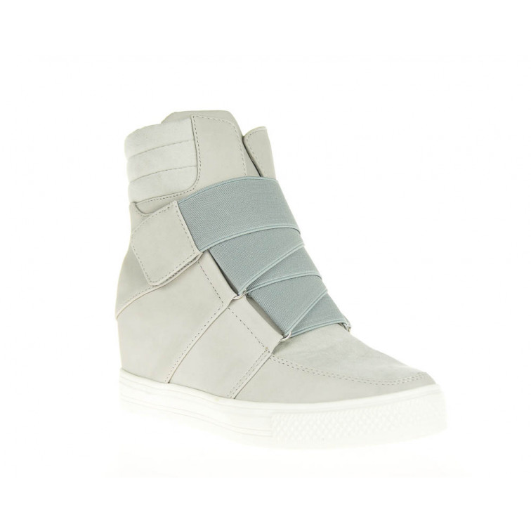 Sneakersy Szare Z Gumką Mumia