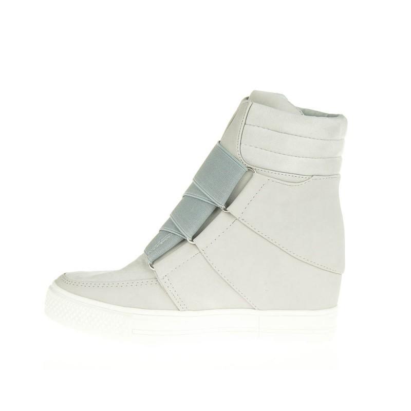 sneakersy z łańcuchem - botki damskie
