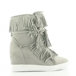 Sneakersy Z Frędzlami Grey Natural Breeze