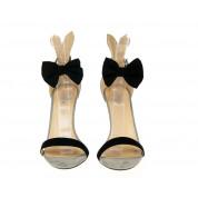 Sandały Na Szpilce Szare Rabbit