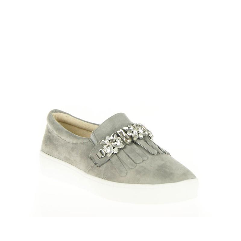 sneakersy z kryształami - botki damskie