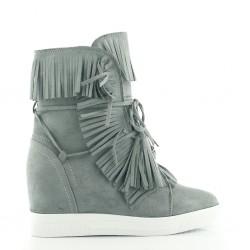 Sneakersy Z Frędzlami Grey Dark Breeze