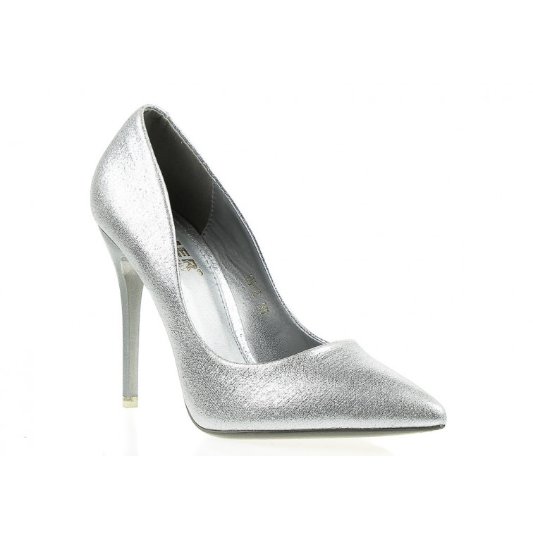 3bde805d9add Shiny Silver High Heels Enjoy Me - Ekstra Szpilki