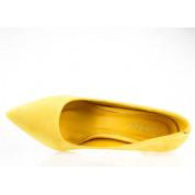 Szpilki Eko Zamszowe Żółte Sleek N2