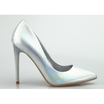 Heels Holographic Silver Let's Party