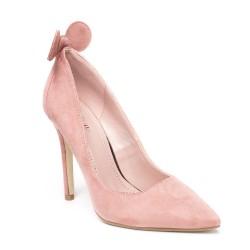Szpilki Zamszowe Różowe Mouse