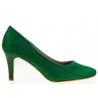 Light Green Eco Suede Heels Sierra Suede 7