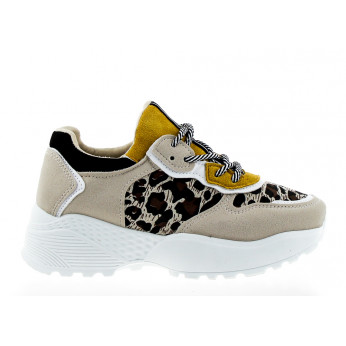 Trainers with Leopard Beige Salvador