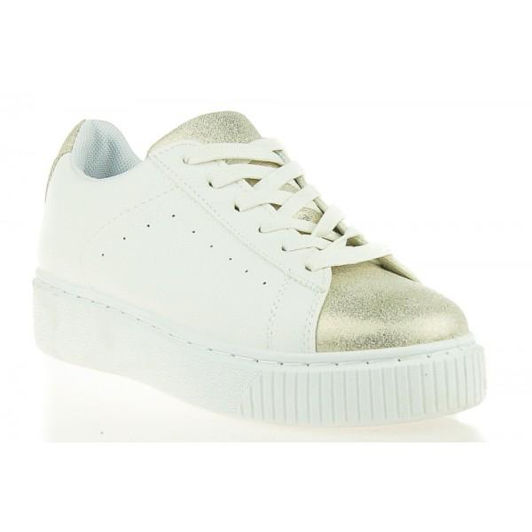 Damskie Sneakersy Biało-Złote Nirvana