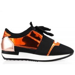 Buty Sportowe Damskie Czarne Lustrzane Moly2