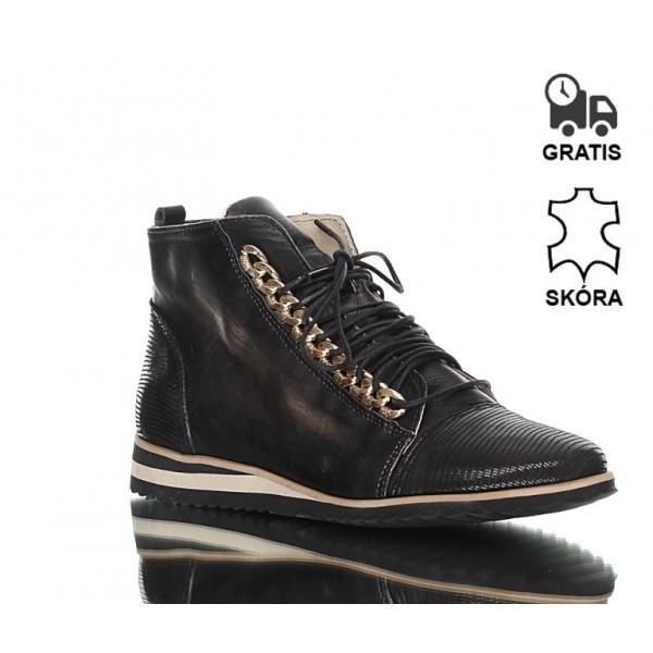 Sneakersy Czarno-Złote Dreams