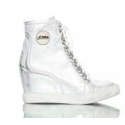 Sneakersy Srebrne Rock Chain