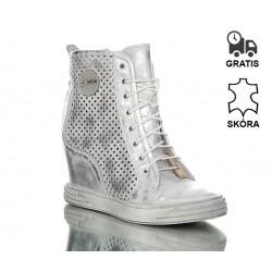 Sneakersy Srebrne Rock On