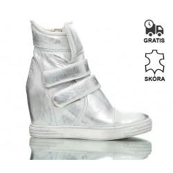 Sneakersy Srebrne Stellar