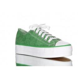 Zielone trampki na koturnie. HIT! tego sezonu.