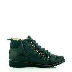 Sneakersy Czarne Leaf
