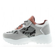 Trainers with Snake Pattern Grey Salvador