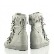 Sneakersy Z Frędzlami Grey Duo Breeze