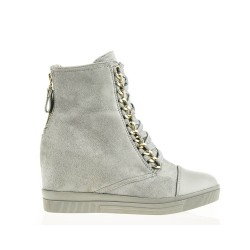 Sneakersy Szare z Łańcuchem Glam