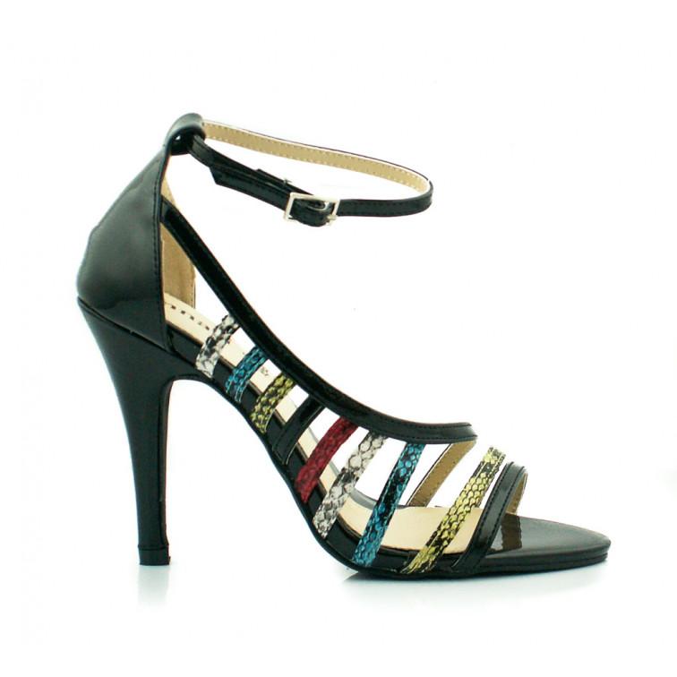 Czarne sandały szpilki Monnari