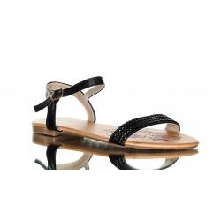 Sandały czarne, zdobione cyrkoniami. Bardzo delikatne i zmysłowe
