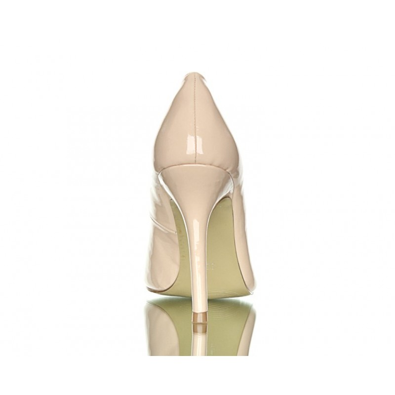 Classic Beige Pumps Thick Heel Ankle Strap Womens Shoes